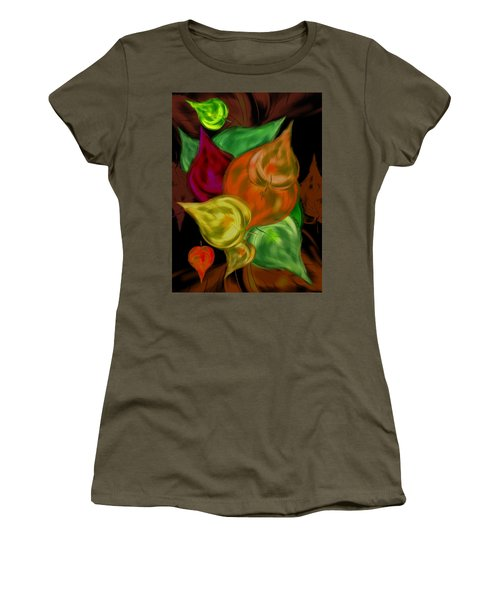 Imagine Leaves Women's T-Shirt (Junior Cut) by Christine Fournier