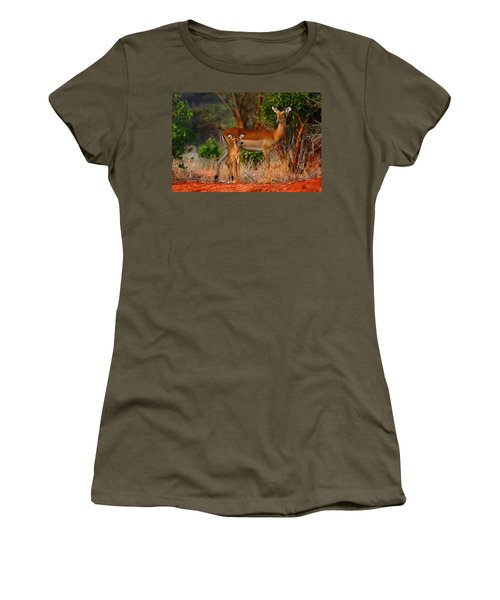 Impala And Young Women's T-Shirt (Junior Cut) by Amanda Stadther