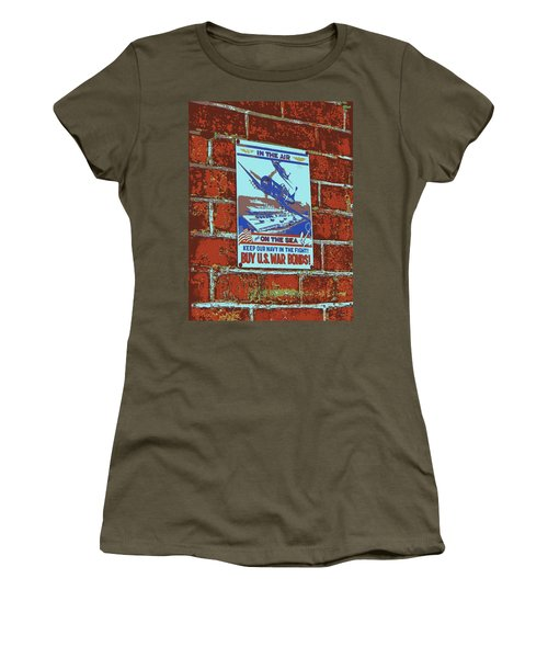 In The Air And On The Sea Poster Women's T-Shirt (Junior Cut) by Jean Goodwin Brooks