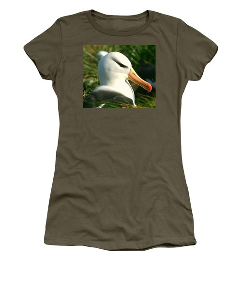 Women's T-Shirt (Junior Cut) featuring the photograph In Waiting by Amanda Stadther