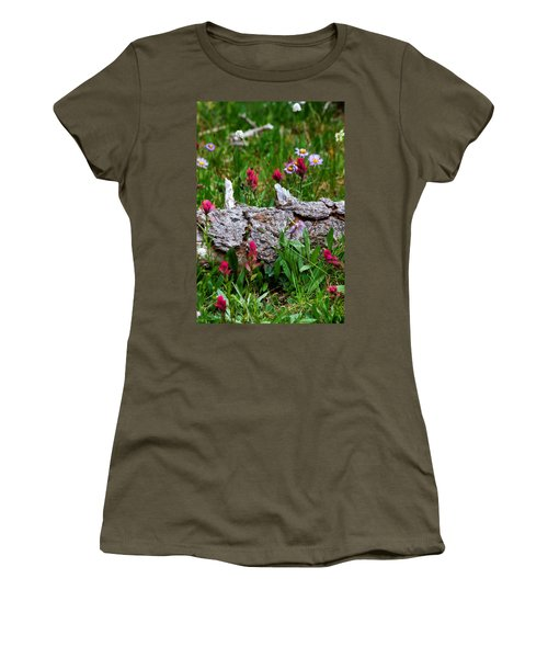 Women's T-Shirt (Junior Cut) featuring the photograph Indian Paintbrush by Ronda Kimbrow