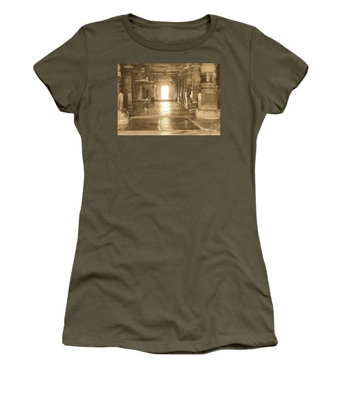 Women's T-Shirt (Junior Cut) featuring the photograph Indian Temple by Mini Arora