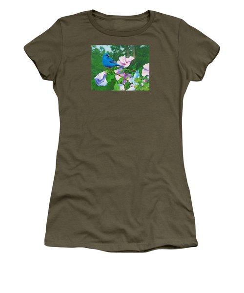 Indigo Bunting  Women's T-Shirt (Junior Cut) by Ken Everett