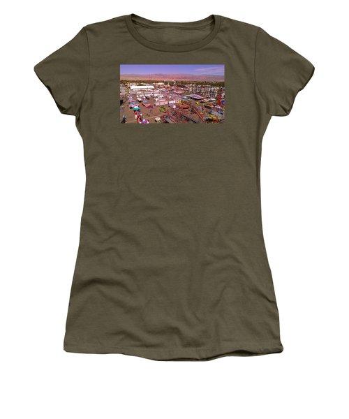Indio Fair Grounds Women's T-Shirt (Junior Cut) by Chris Tarpening