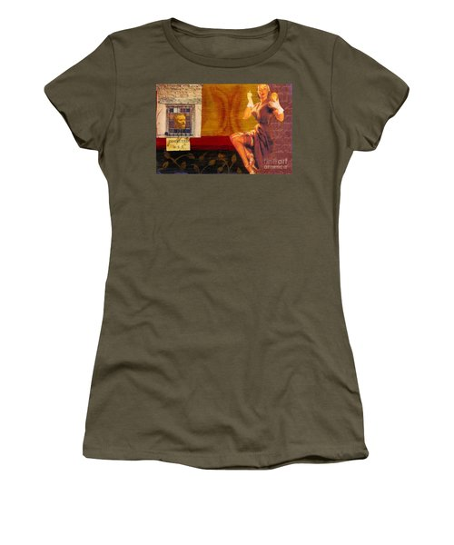 Women's T-Shirt (Junior Cut) featuring the mixed media Inspected by Desiree Paquette