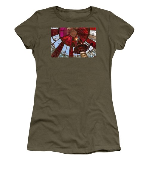 Women's T-Shirt featuring the photograph Interior Of Fresnel Lens In Umpqua Lighthouse by Bryan Mullennix