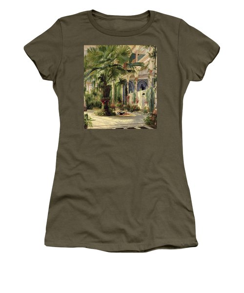 Interior Of The Palm House At Potsdam Women's T-Shirt