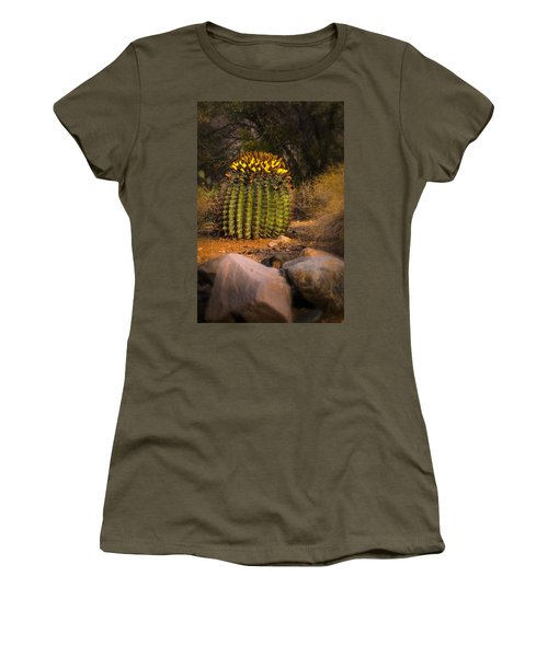 Women's T-Shirt (Junior Cut) featuring the photograph Into The Prickly Barrel by Mark Myhaver