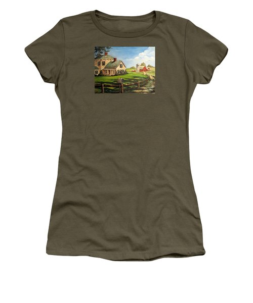 Cherokee Iowa Farm House Women's T-Shirt (Athletic Fit)