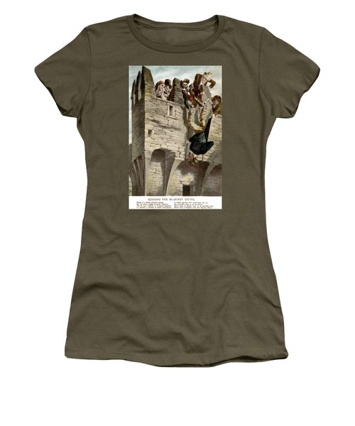 Women's T-Shirt (Junior Cut) featuring the painting Ireland The Blarney Stone by Granger