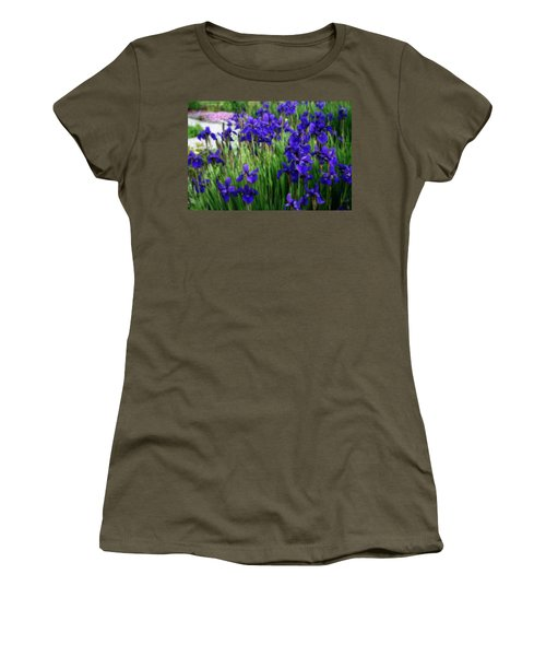 Women's T-Shirt (Junior Cut) featuring the photograph Iris In The Field by Kay Novy