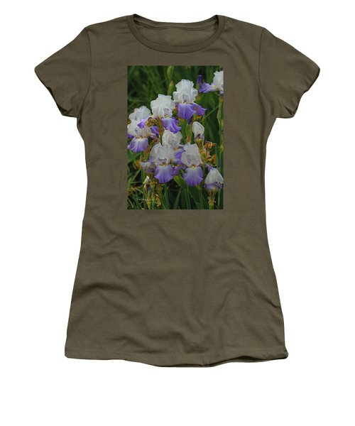 Iris Patch At The Arboretum Women's T-Shirt (Athletic Fit)