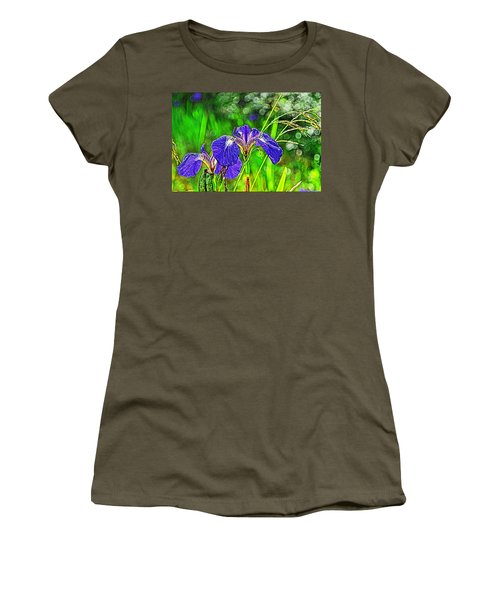 Women's T-Shirt (Junior Cut) featuring the photograph Irises by Cathy Mahnke