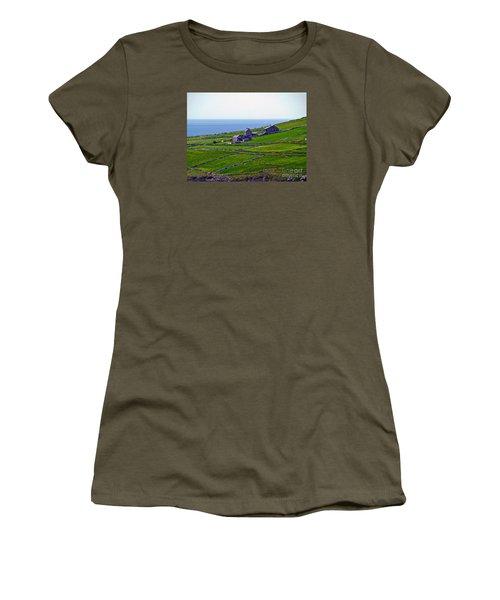 Irish Farm 1 Women's T-Shirt (Junior Cut) by Patricia Griffin Brett