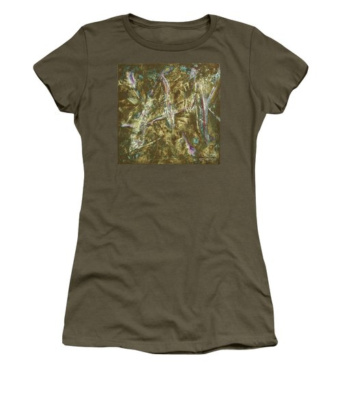 Women's T-Shirt (Junior Cut) featuring the painting It's Crazy Out There by Mini Arora