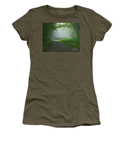 Mystery Walk Women's T-Shirt (Junior Cut) by Douglas Stucky