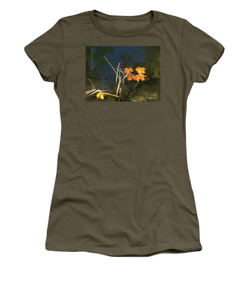 It's Over - Leafs On Pond Women's T-Shirt (Junior Cut) by Brenda Brown