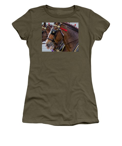 Women's T-Shirt featuring the photograph It's Pretty Horse Day by Robert L Jackson