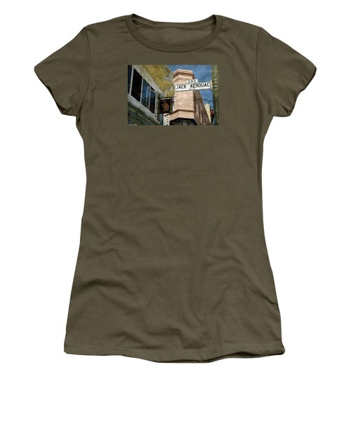 Jack Kerouac Alley And Vesuvio Pub Women's T-Shirt (Athletic Fit)