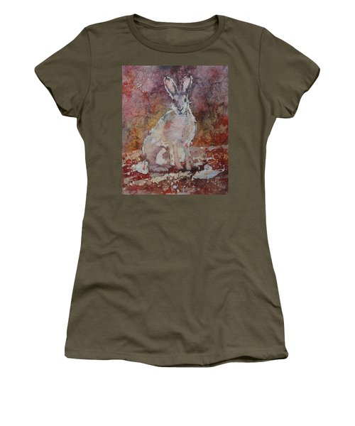 Women's T-Shirt featuring the painting Jack Rabbit by Ruth Kamenev