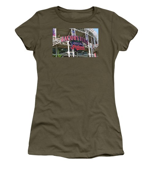 Jacobs Field - Cleveland Indians Women's T-Shirt (Junior Cut) by Frank Romeo