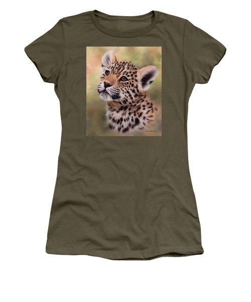 Jaguar Cub Painting Women's T-Shirt (Athletic Fit)