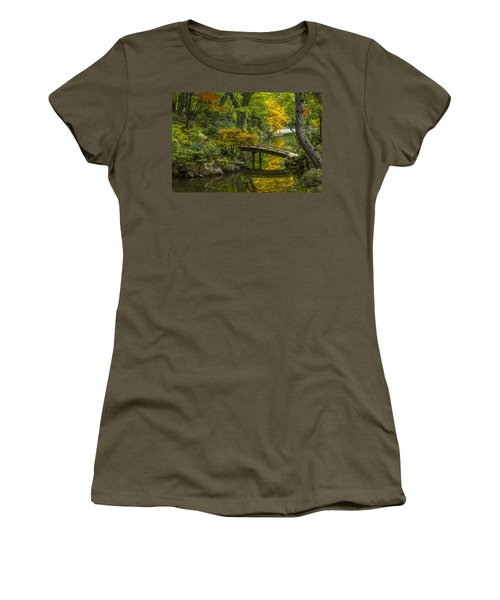 Women's T-Shirt (Junior Cut) featuring the photograph Japanese Garden by Sebastian Musial