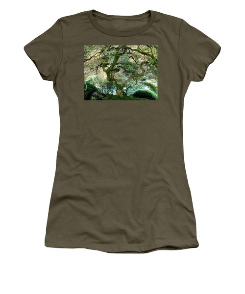 Women's T-Shirt (Junior Cut) featuring the photograph Japanese Maple Tree II by Athena Mckinzie