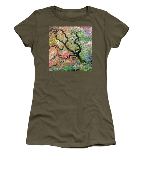 Japanese Maple Women's T-Shirt (Junior Cut) by Wendy McKennon