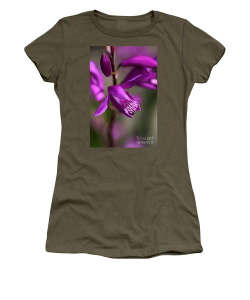 Women's T-Shirt (Junior Cut) featuring the photograph Japanese Orchid by Joy Watson
