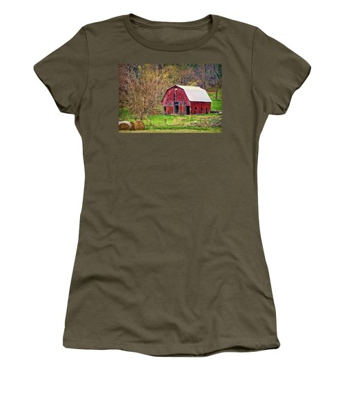 Jemerson Creek Barn Women's T-Shirt (Junior Cut) by Cricket Hackmann