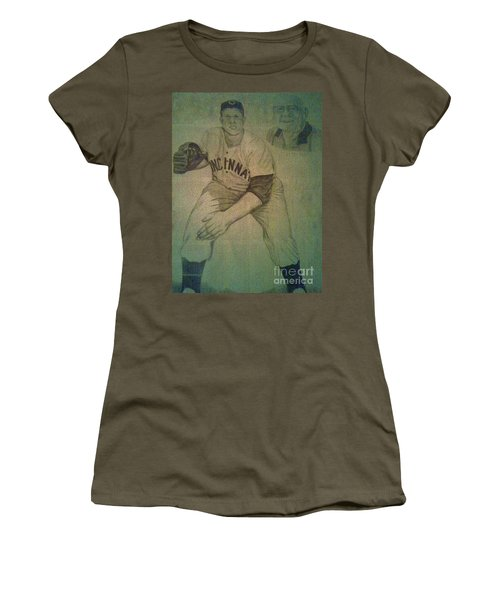 Joe Nuxhall Women's T-Shirt (Junior Cut) by Christy Saunders Church