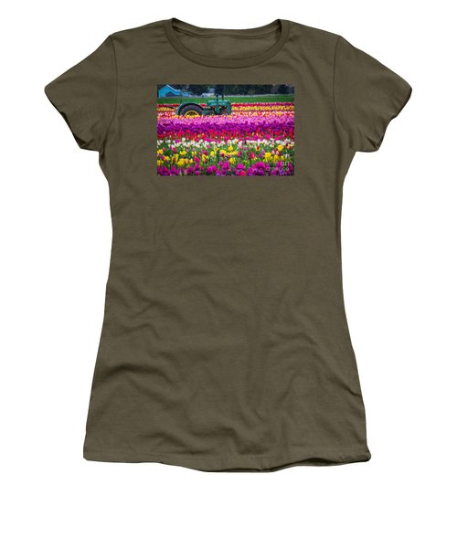 John Deere In Spring Women's T-Shirt (Athletic Fit)