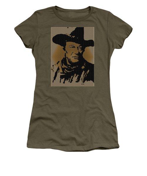 John Wayne Lives Women's T-Shirt (Athletic Fit)
