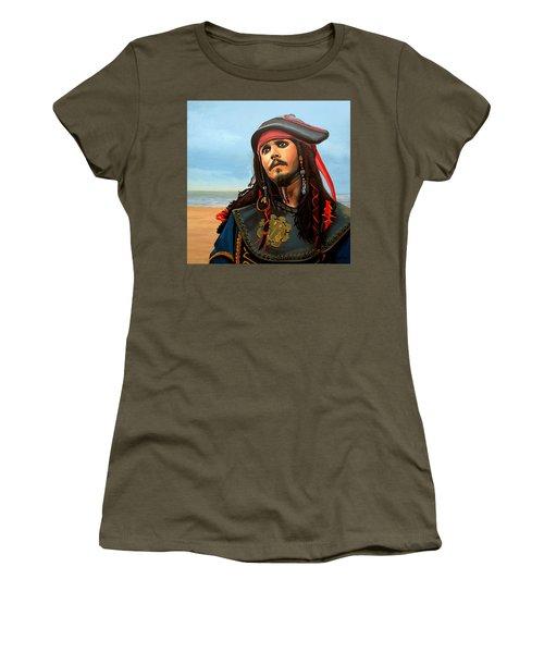 Johnny Depp As Jack Sparrow Women's T-Shirt