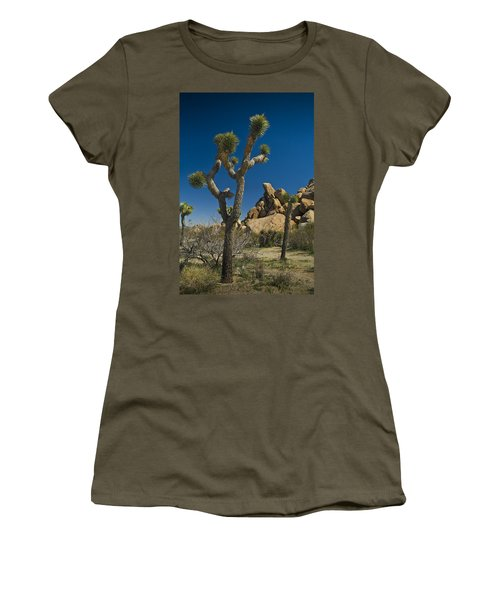 California Joshua Trees In Joshua Tree National Park By The Mojave Desert Women's T-Shirt