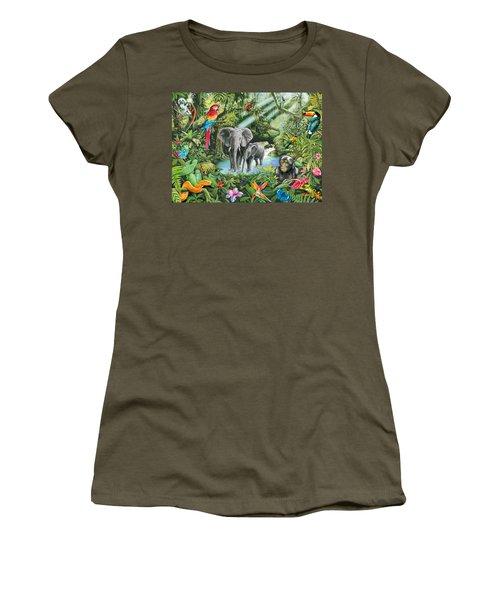 Jungle Women's T-Shirt (Junior Cut) by Mark Gregory
