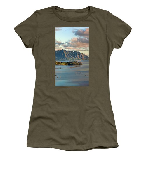 Kaneohe Bay Panorama Mural 2 Of 5 Women's T-Shirt