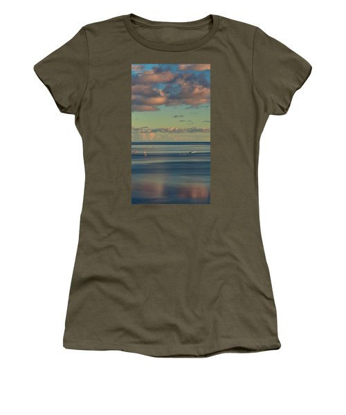 Kaneohe Bay Panorama Mural 4 Of 5 Women's T-Shirt