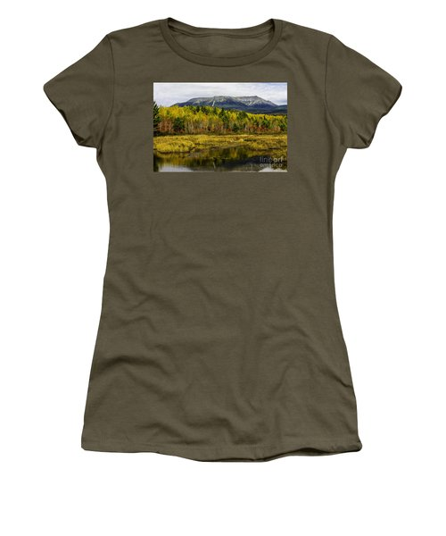 Katahdin Baxter State Park Maine Women's T-Shirt (Athletic Fit)