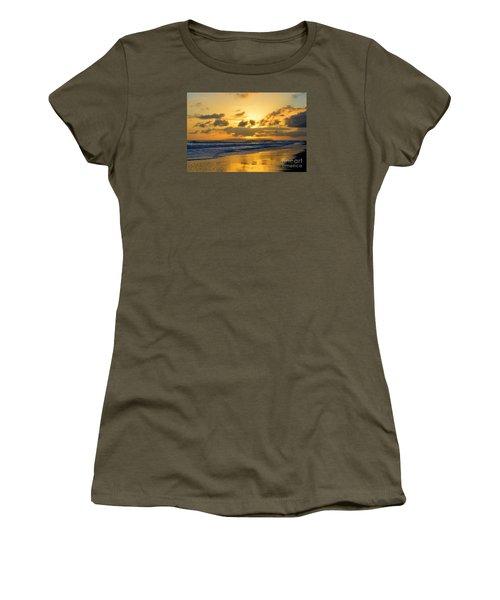 Kauai Sunset With Niihau On The Horizon Women's T-Shirt (Junior Cut) by Catherine Sherman