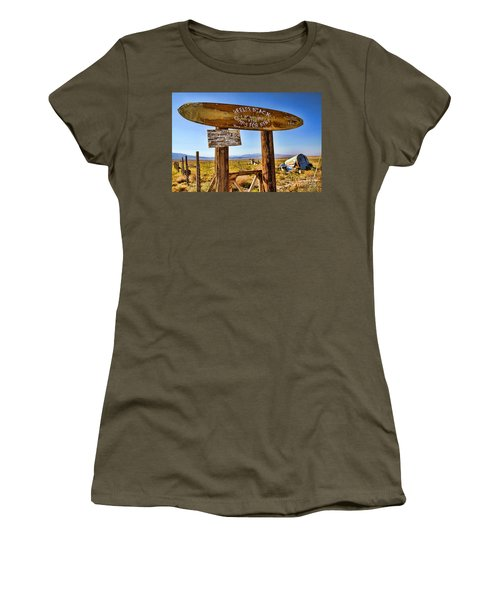 Keeler Beach Camping By Diana Sainz Women's T-Shirt