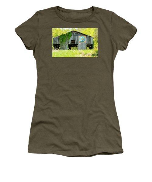 Kentucky Barn Quilt - Thunder And Lightening Women's T-Shirt