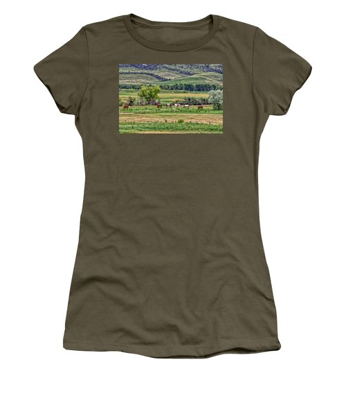 Women's T-Shirt (Junior Cut) featuring the painting K G Ranch by Michael Pickett