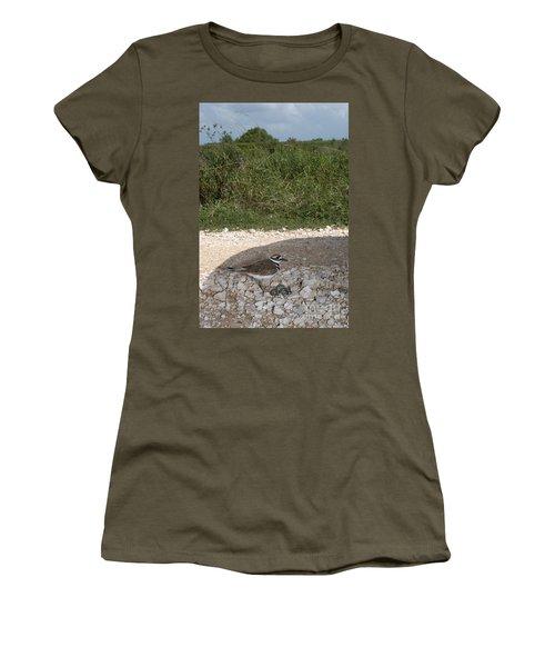 Killdeer Defending Nest Women's T-Shirt (Athletic Fit)