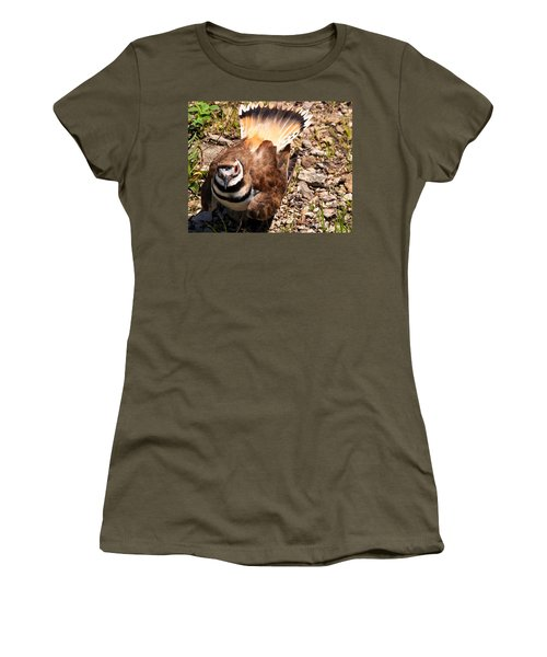 Killdeer On Its Nest Women's T-Shirt (Athletic Fit)