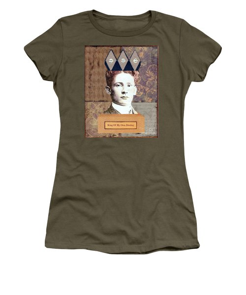 Women's T-Shirt (Junior Cut) featuring the mixed media King Of My Own Destiny by Desiree Paquette