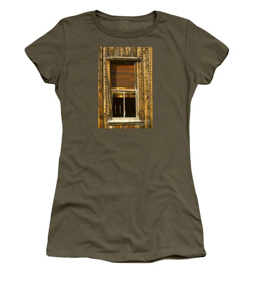 Women's T-Shirt (Junior Cut) featuring the photograph Kirwin Window-signed-#0223 by J L Woody Wooden