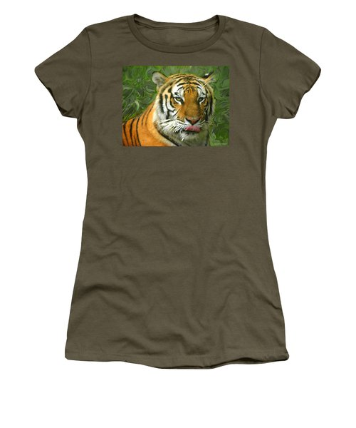 Women's T-Shirt (Junior Cut) featuring the photograph Kisa Painted by Sandi OReilly
