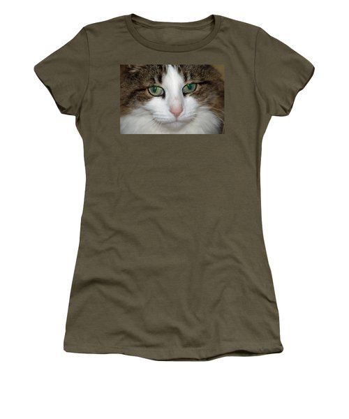 Women's T-Shirt (Junior Cut) featuring the photograph Kitty by Aimee L Maher Photography and Art Visit ALMGallerydotcom